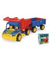 Wader Auto Gigant truck + dětská vlečka plast 55cm v krabici