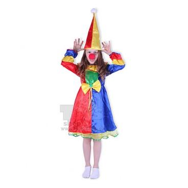 dětský kostým Klaunova slečna s kloboukem