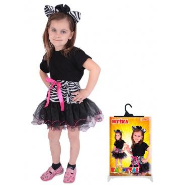 Dětský karnevalový kostým sada Zebra, sukně + čelenka