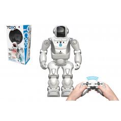 Conquest Robot A Bot X  na ovládání IC plast reagující na pohyb ruky na bat. se zvukem v krabici 26x46cm