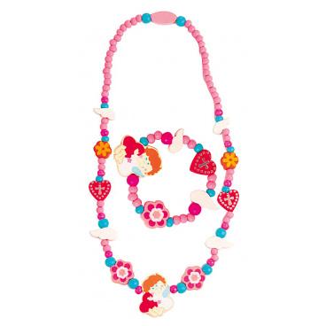 Woody Souprava náhrdelník a náramek - Mořská panna