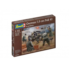 Revell 02531 Plastic ModelKit figurky - German 7,5 cm PaK40 &  soldiers (1:72)