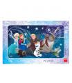 Dino dětské  puzzle WD Frozen: Sněhové Vločky 15D