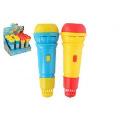 Teddies Mikrofon s ozvěnou plast 24cm asst 2 barvy