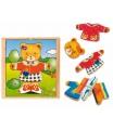 Woody Puzzle šatní skříň Medvědice