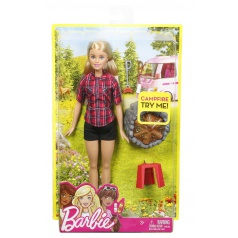 Mattel Barbie PANENKA U TÁBORÁKU ASST FDB43