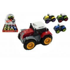 Teddies Traktor prevracací plast 10cm mix farieb na batérie 12ks v boxe