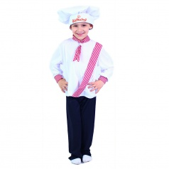 RAPPA hračky Dětský kostým kuchař dětský, vel. M