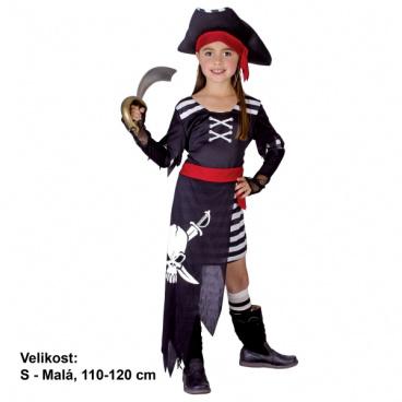dětský kostým na karneval - pirátka vel. 110-120 cm