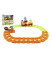 Teddies Vlak/Vláček s vagónky a zvířátky 30cm plast na baterie se světlem a zvukem v krabici 24m+