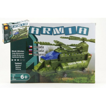 Dromader 22602  Vojáci Vrtulník 308ks v krabici 35x25,5x5,5cm