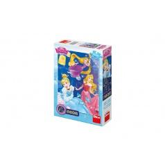 Dino Puzzle Disney Princezny neon 100 XL dílků v krabici 20x29x6cm