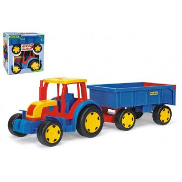 WADER Traktor Gigant s vlekom plast 102cm v krabici Wader