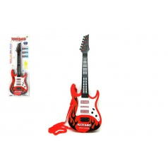 Teddies Kytara plast 54cm na baterie 3xAA na kartě