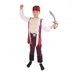 Rappa Dětský kostým pirát s šátkem a vycpanou hrudí (L)