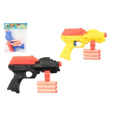 Teddies Pistole na pěnové náboje 3ks plast 17cm, assort 3 barvy