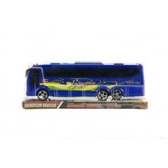 Teddies Autobus plast 25cm na setrvačník asst 2 barvy