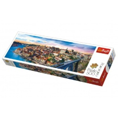 Trefl Puzzle Porto, Portugalsko panorama 500 dílků 66x23,7cm v krabici 40x13x4cm