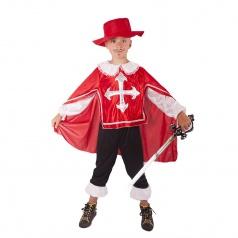Rappa Dětský kostým mušketýr červený (M)