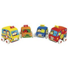 K´s Kids Látková auta s natahovacím pohonem - 4 druhy