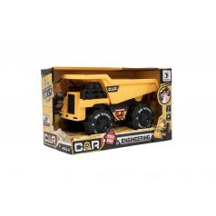 Teddies Auto stavební plast na setrvačník 20cm na baterie se zvukem se světlem v krabici 24x15x12cm