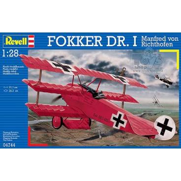 Revell Plastic ModelKit letadlo 04744 - Fokker Dr.I 'Richthofen' (1:28)