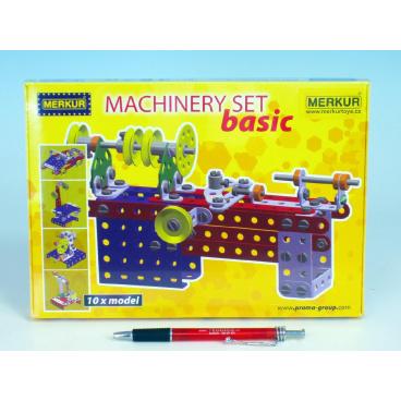 MERKUR Stavebnice Machinery set Basic 10 modelů v krabici 25,5x18x2cm
