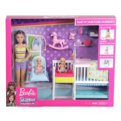 Mattel Barbie GFL38 HERNÍ SET DĚTSKÝ POKOJÍK