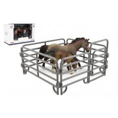 Teddies Zvířátka domácí farma 12cm sada plast kůň s doplňky 4 druhy
