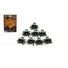 Teddies Pavouk mini plast 1,5cm 8ks na kartě
