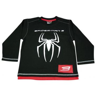 "licence only Tričko dl. rukáv ""Černý Spider"", vel. 8 let"