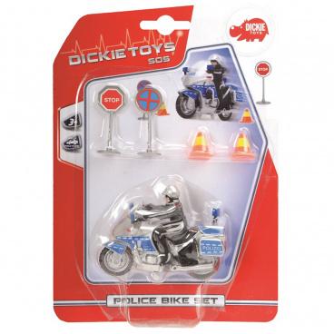 Dickie SOS Dickie Policejní motocykl 10 cm s příslušenstvím