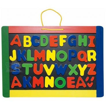 WOODY Magnetická tabule s písmeny