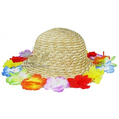 Karnevalový klobouk slamák hawai dámský