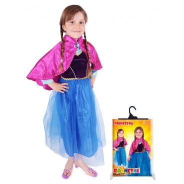Dětský karnevalový kostým Frozen princezna zimní Anička, vel. S