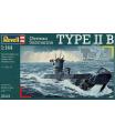 Revell ponorka Plastic modelKit loď 05115 - German Submarine TYPE IIB (1:144)