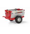 """Vlečka za traktor 1osá """"Farm Trailer""""- stříbročervená"""