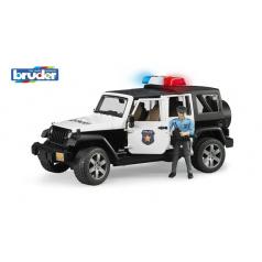 bruder Pohotovostní vozidla - policejní Jeep Wrangler s policistou a příslušenstvím