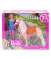 Mattel Barbie PANENKA S KONĚM FXH13