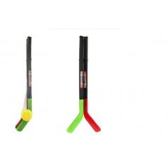 Teddies Hokejka 2ks s pukem plast 70cm v síťce