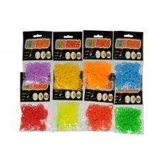 Teddies Udělej si svůj náramek - gumičky na pletení gumové asst mix barev 300ks v sáčku