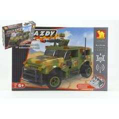 Dromader 20218 Vojáci Auto RC na vysílačku na baterie 284ks v krabici 37x24x7cm