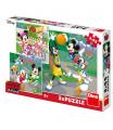 Dino puzzle WD Mickey a Minnie sportovci 3x55D