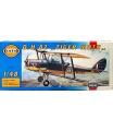 Směr model letadla D.H.82 Tiger Moth 15,4x19cm v krabici 31x13,5x3,5cm