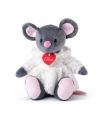 Lumpin Myška Azumi šedá v bílém kožíšku