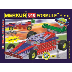 MERKUR - Stavebnice Merkur 010 Formule, 223 dílů, 10 modelů