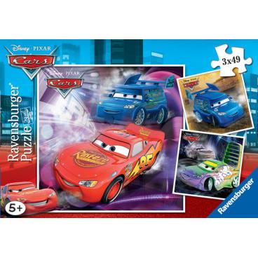 Ravensburger dětské puzzle Na závodní dráze  3x49d