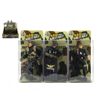 Teddies Voják figurka plast 10cm asst v krabičce