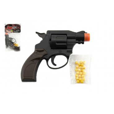 Teddies Pistole/Revolver na kuličky plast 14cm v sáčku