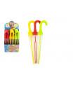 Teddies Bublifuk deštník plast 37cm 130ml 3 barvy 24 ks v boxu